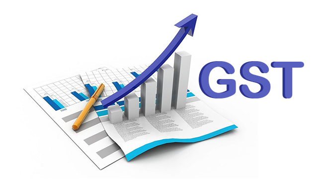 Vector Image of GST Tax India Concept isolated in white background.
