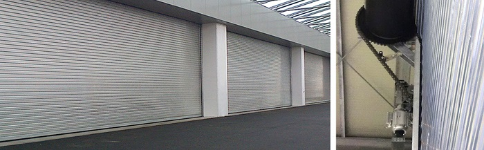 Roller Shutters With High Resistant Against Wind Pressure In Large Factories And Warehouses.